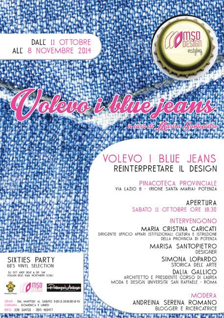 "locandina volevo i blue jeans - ""Volevo i blue jeans"""