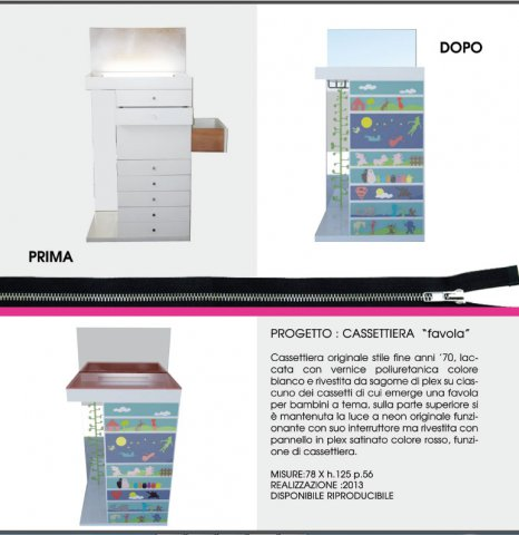 "portfolio cassettiera - Cassettiera ""Favola"""