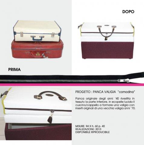 """portfolio panca valigia - Panca Valigia """"Comodina"""""""