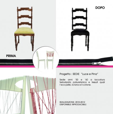 """portfolio sedie - Sedie """"Luce e Pina"""""""