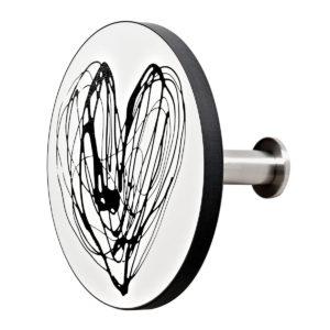 art up stampati black heart 1240 300x300 - Appendiabiti Art Up Printed