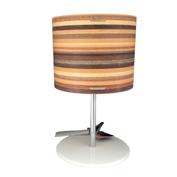 emporium lampada legno 600x600 - Lampada da tavolo effetto legno Emporium
