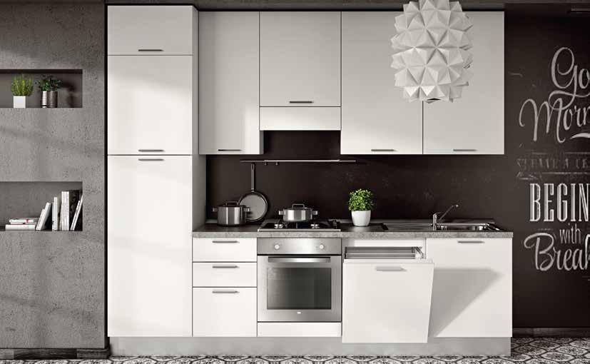 Cucina Completa Bianco Opaco 3m. - MSD Design