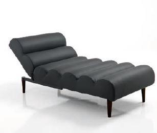 Cattura11 7 - Chaise longue / lettino GUMMY BLACK