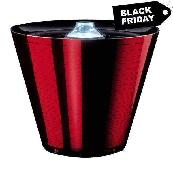 multipotgmalred 1 600x600 - Multipot GLAM rosso lucido Lampada Led con Multipresa