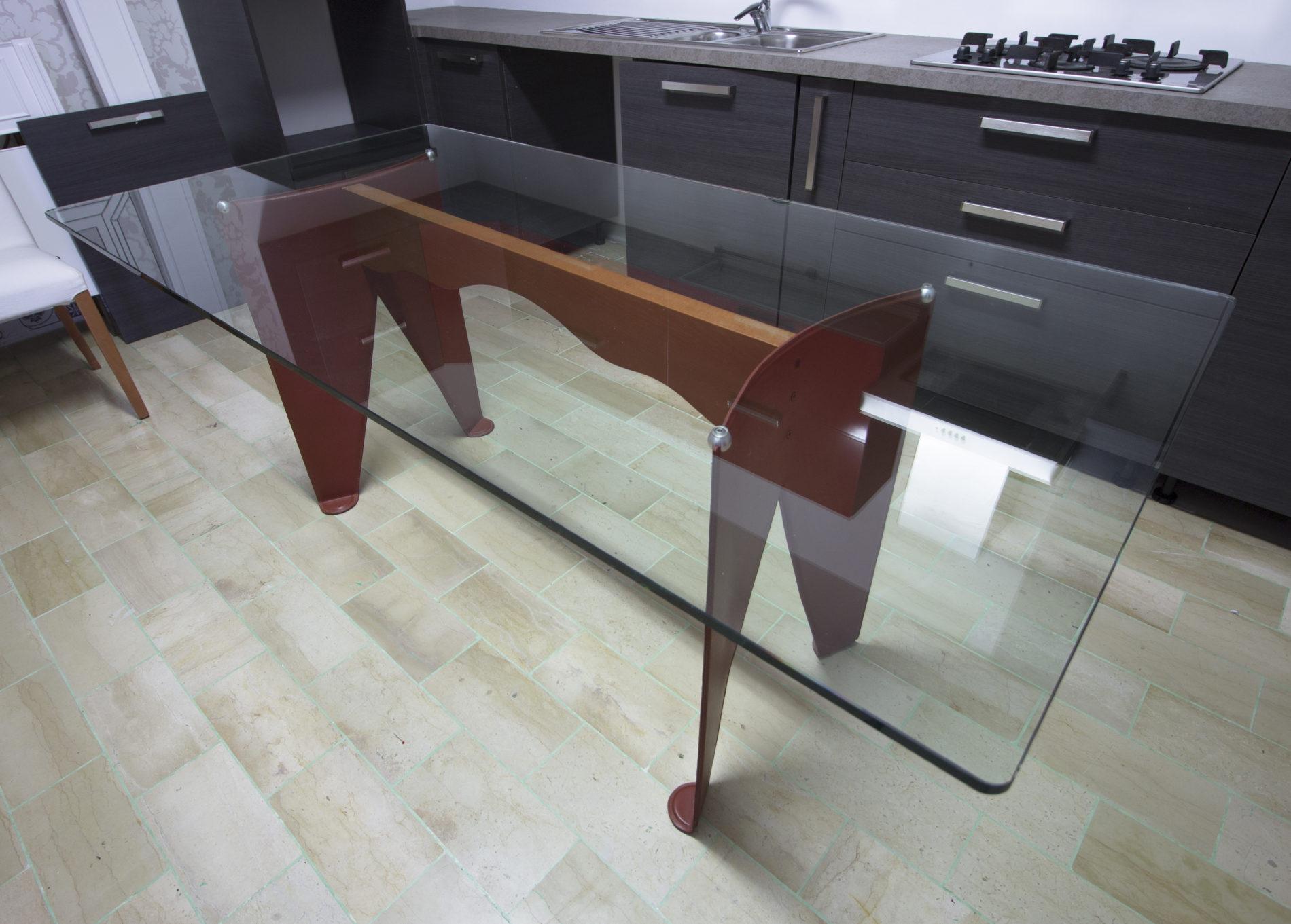Tavolo in cristallo msd design - Tavolo cristallo rettangolare usato ...