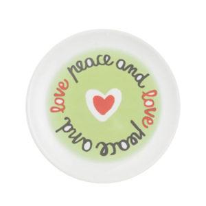 peaceandlove17 300x300 - Piatto dolci peace and love Bitossi ∅ 17 cm.