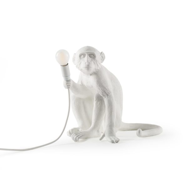 Seletti Lighting Monkey Lamp Sitting Lamp Indoor 14882 3 1 600x600 - Lampada in resina scimmia Seletti monkey lamp