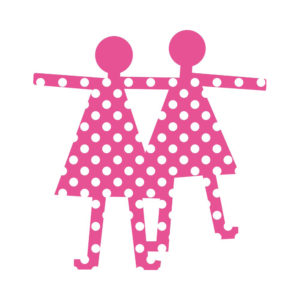 lesignorine creativando rosa 300x300 - Appendiabiti Le Signorine Creativando Rosa Pois Bianchi