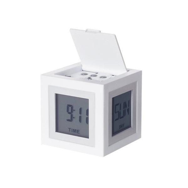 lexon cubissimo bianco 600x600 - Lexon Orologio Sveglia Cubissimo