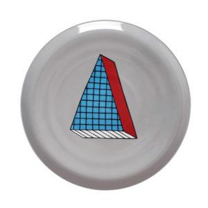 rio00001 300x300 - Piatto pizza Bitossi Rio quadrati azzurro rosso