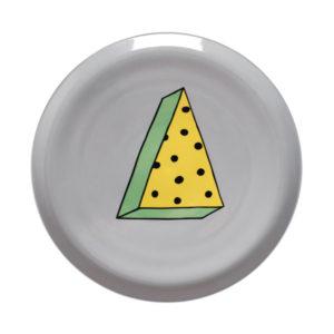 rio00003 300x300 - Piatto pizza Bitossi Rio pois giallo blu
