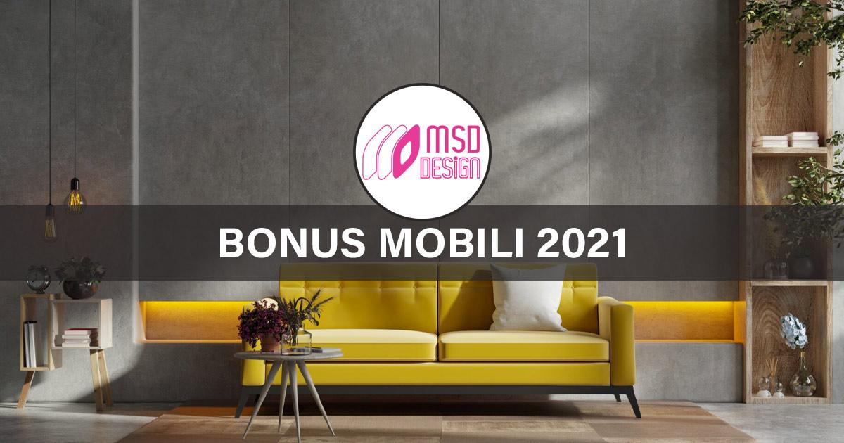 MSD Design Bonus Mobili 2021